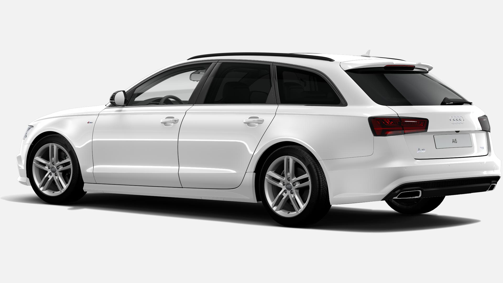 Vista Tres cuartos trasera izquierda de Audi A6 Avant 2.0 TDI Black line ultra S Tronic 140 kW (190 CV)