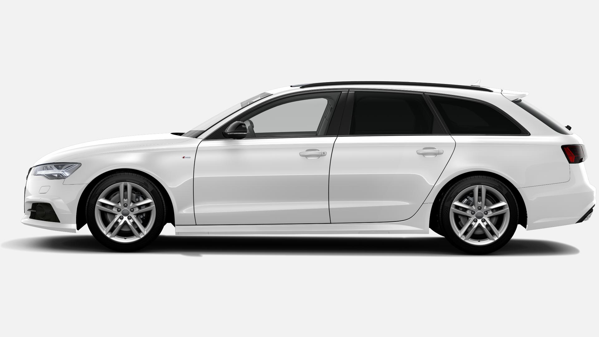 Vista Lateral izquierda de Audi A6 Avant 2.0 TDI Black line ultra S Tronic 140 kW (190 CV)