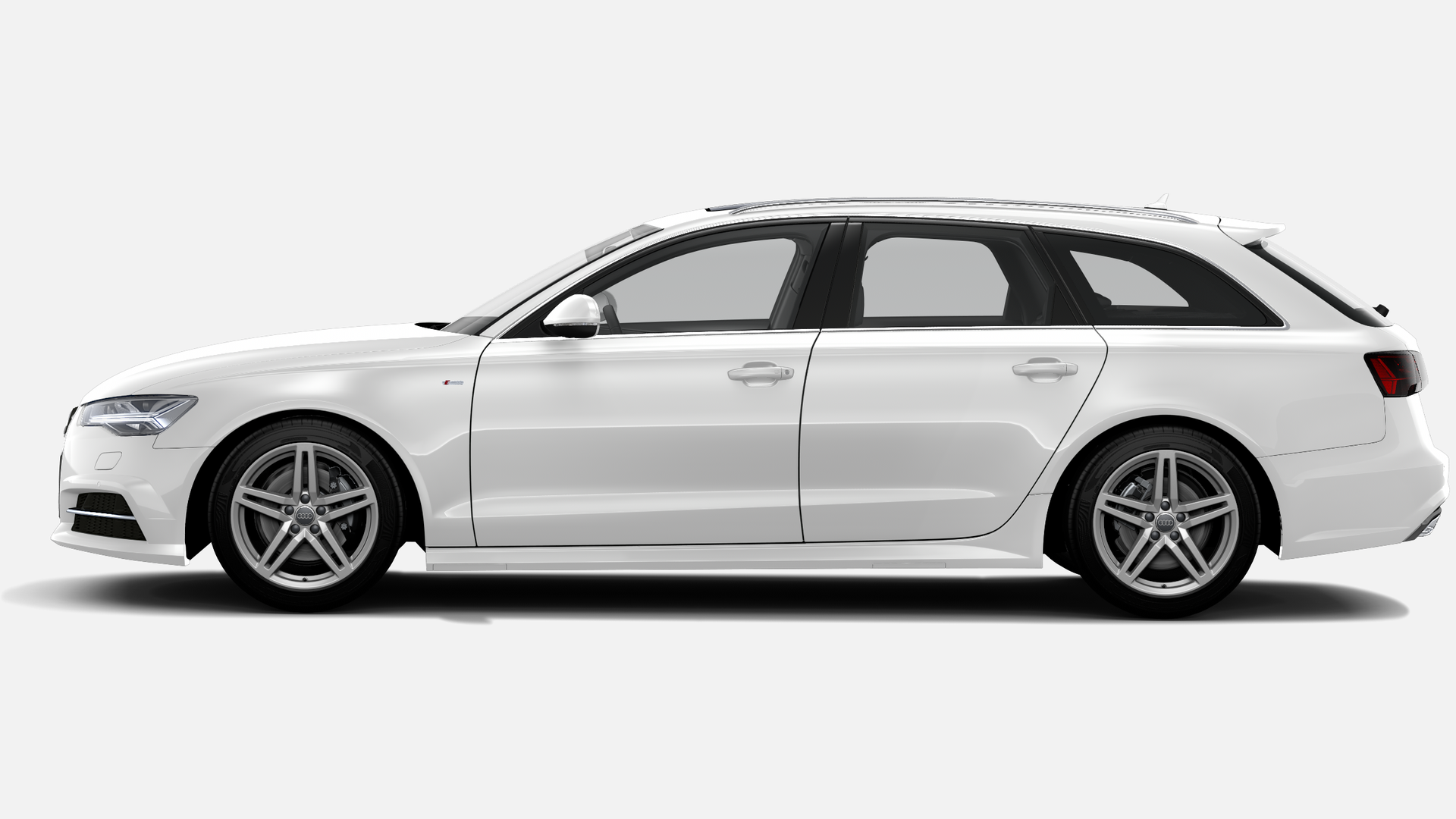 Vista Lateral izquierda de Audi A6 Avant 2.0 TDI line ultra S tronic 140 kW (190 CV)