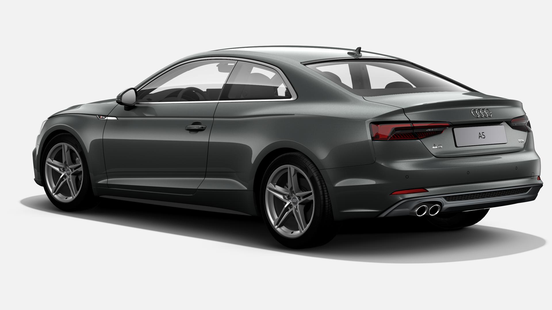 Vista Tres cuartos trasera izquierda de Audi A5 Coupe 2.0 TDI S line S tronic 140 kW (190 CV)