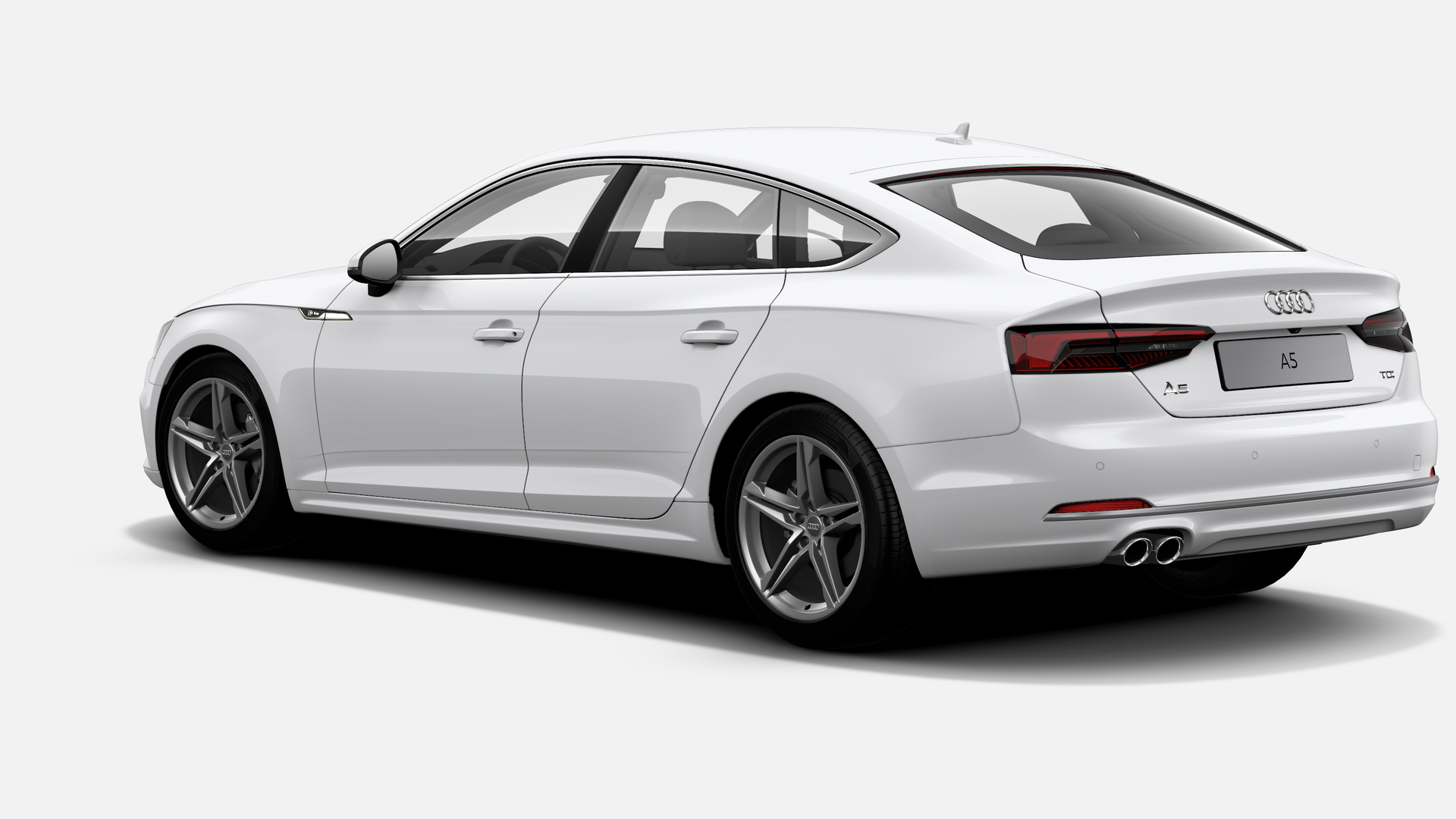 Vista Tres cuartos trasera izquierda de Audi A5 Sportback 2.0 TDI Sport S tronic 140 kW (190 CV)