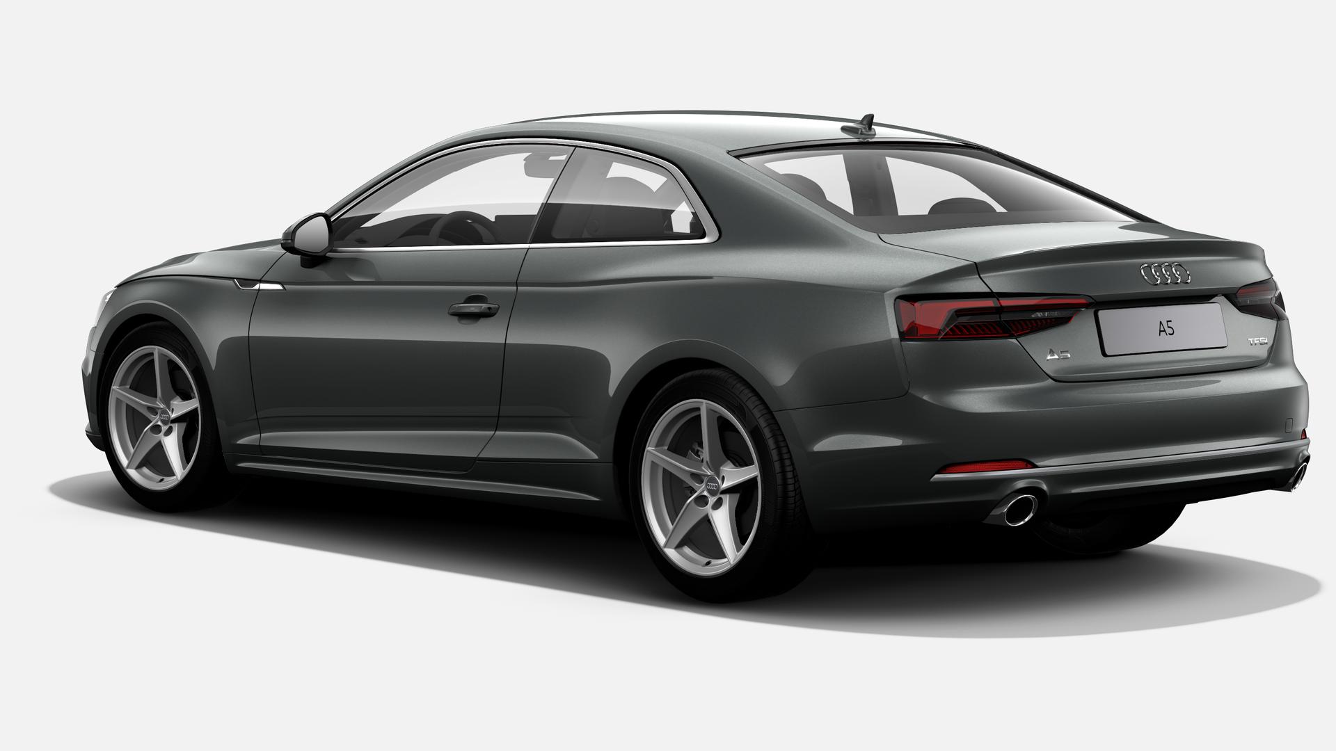 Vista Tres cuartos trasera izquierda de Audi A5 Coupe 2.0 TFSI S line MHEV S tron 140 kW (190 CV)