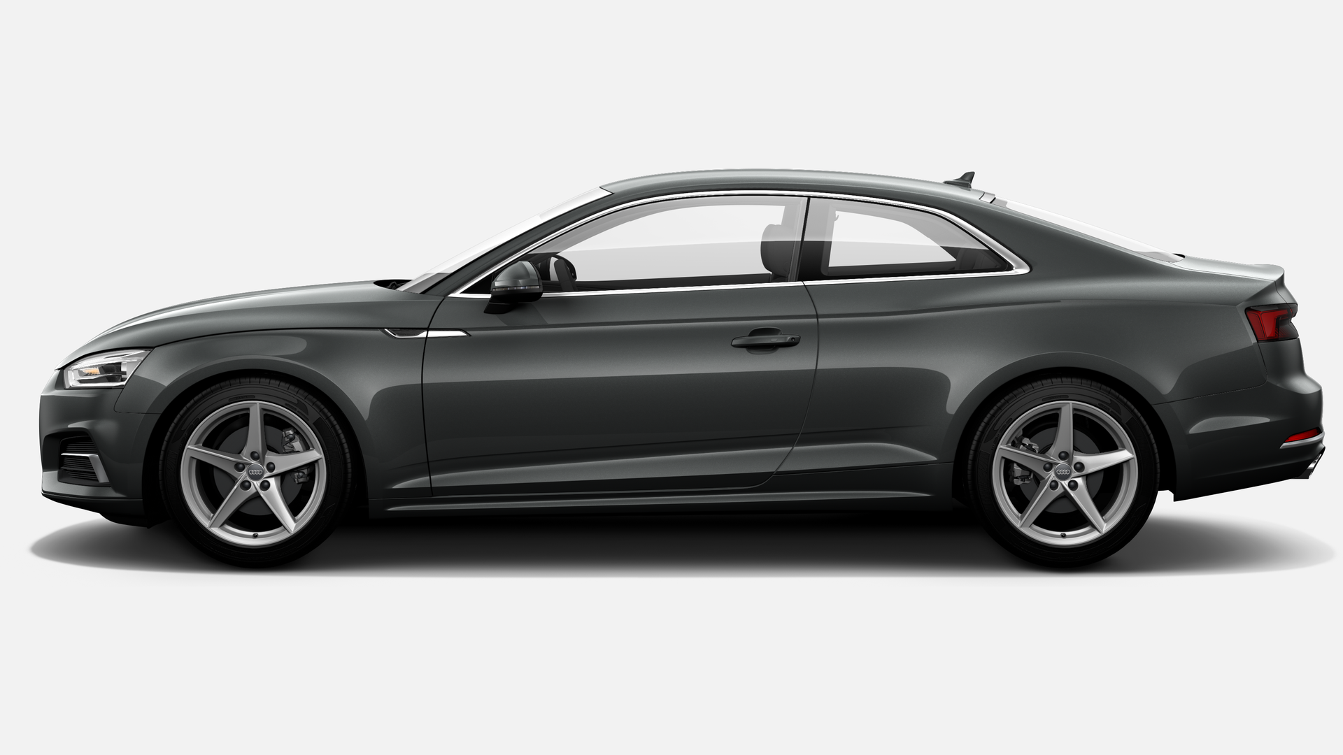 Vista Lateral izquierda de Audi A5 Coupe 2.0 TFSI S line MHEV S tron 140 kW (190 CV)