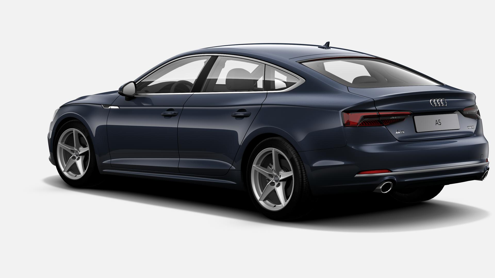 Vista Tres cuartos trasera izquierda de Audi A5 Sportback 2.0 TFSI Sport S tronic 140 kW (190 CV)