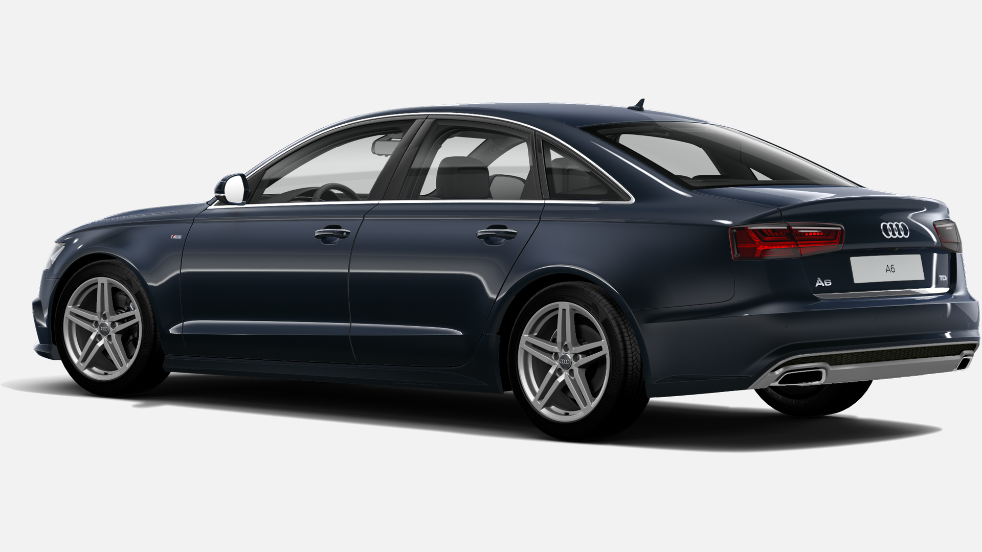 Vista Tres cuartos trasera izquierda de Audi A6 2.0 TDI S line edition S tronic 140 kW (190 CV)