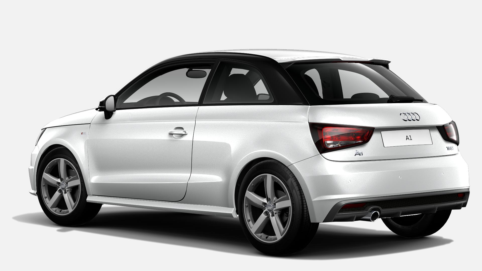 Vista Tres cuartos trasera izquierda de Audi A1 1.0 TFSI Adrenalin 70 kW (95 CV)