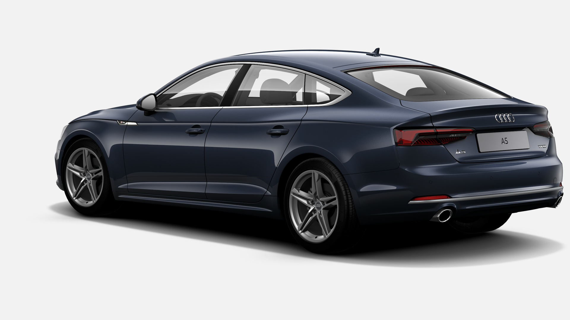 Vista Tres cuartos trasera izquierda de Audi A5 Sportback 2.0 TFSI sport 140 kW (190 CV)