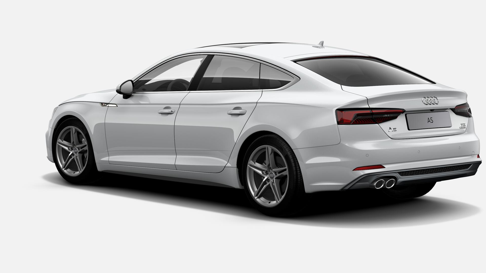 Vista Tres cuartos trasera izquierda de Audi A5 Sportback 2.0 TDI Sport quattro S tronic 140 kW (190 CV)
