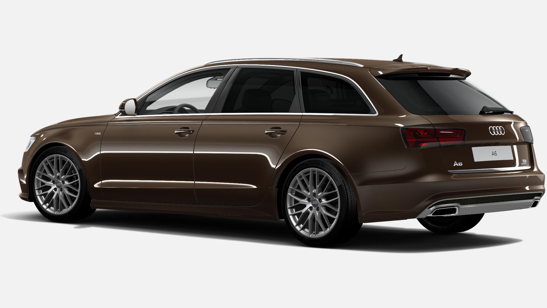 Vista Tres cuartos trasera izquierda de Audi A6 Avant 2.0 TDI S Line Edition quattro S Tronic 140 kW (190 CV)