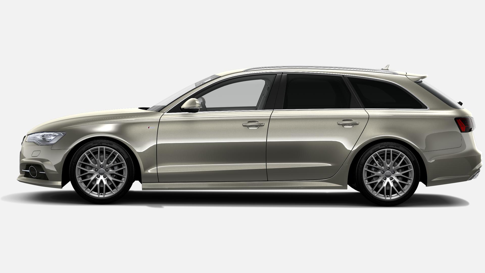 Vista Lateral izquierda de Audi A6 Avant 2.0 TDI S Line Edition quattro S Tronic 140 kW (190 CV)