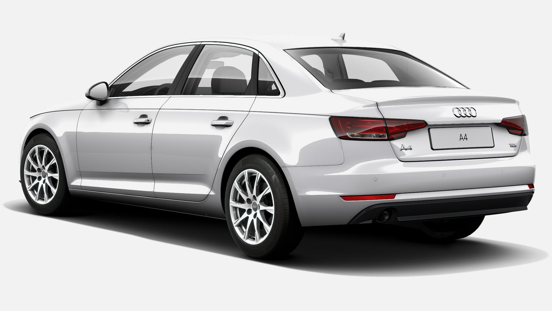 Vista Tres cuartos trasera izquierda de Audi A4 2.0 TDI ultra Advanced edition 110 kW (150 CV)