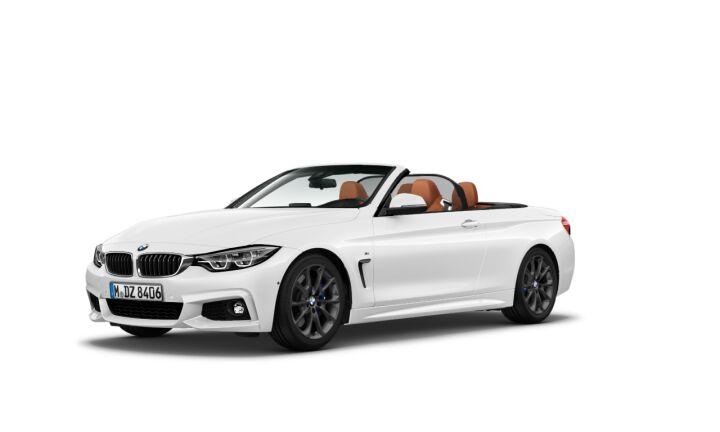 Vista Tres cuartos delantera izquierda del BMW Serie 4 420d Cabrio
