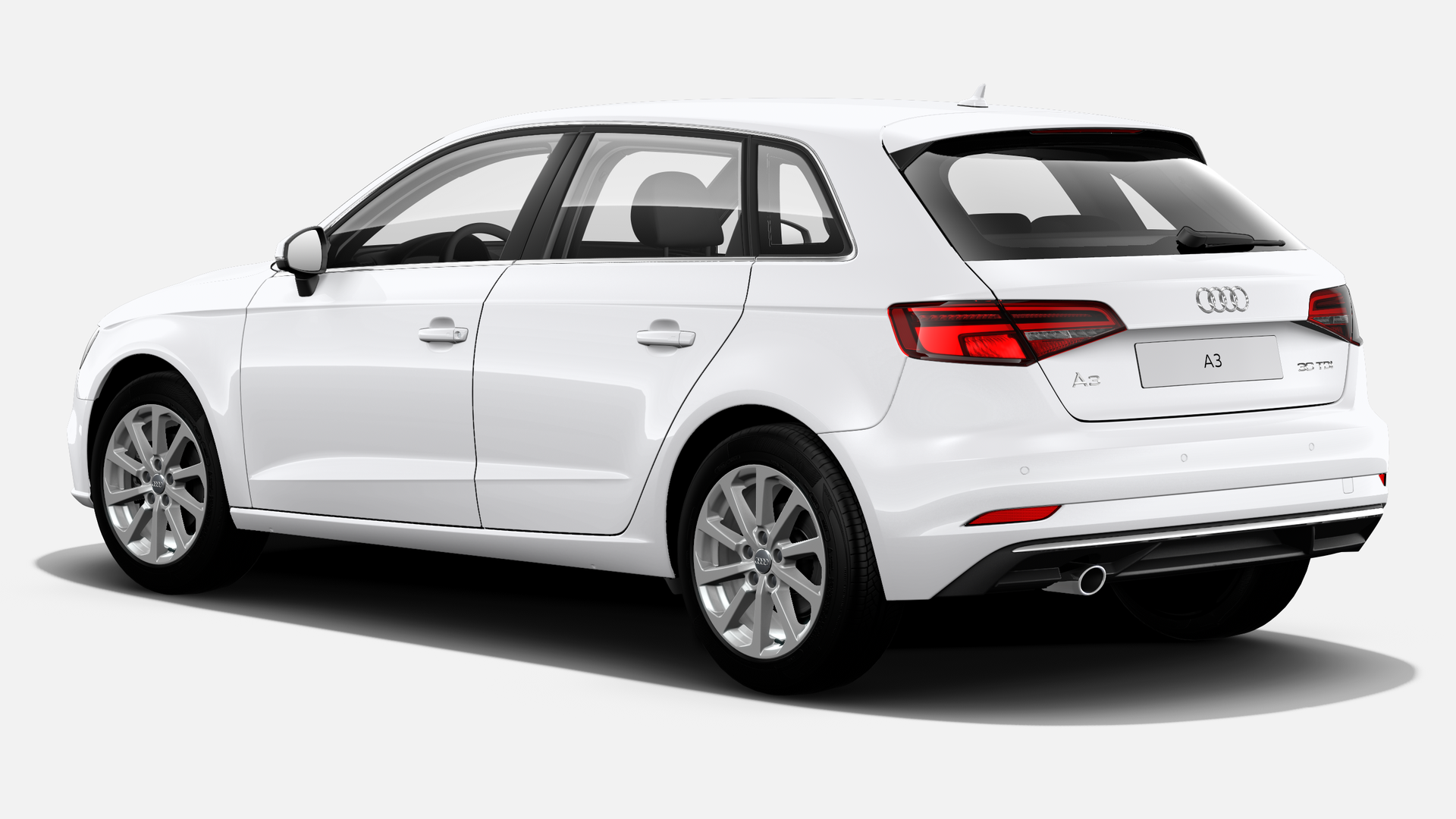 Vista Tres cuartos trasera izquierda de Audi A3 Sportback 1.6 TDI Design Edition 85 kW (116 CV)