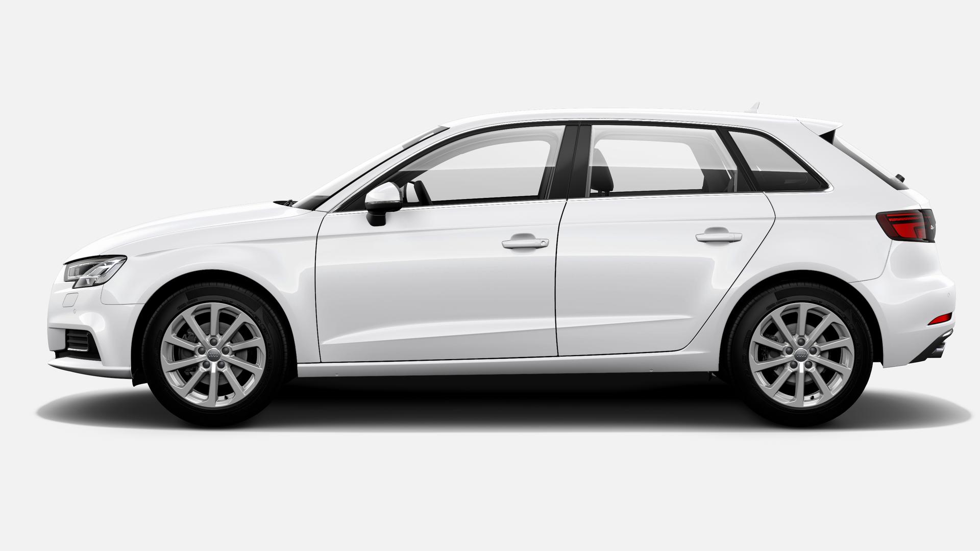Vista Lateral izquierda de Audi A3 Sportback 1.6 TDI Design Edition 85 kW (116 CV)