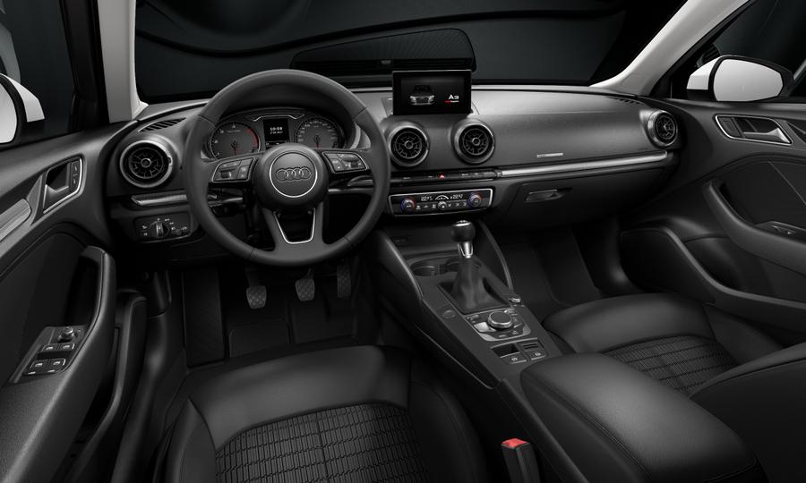Vista Interior delantera de Audi A3 Sportback 1.6 TDI Design Edition 85 kW (116 CV)
