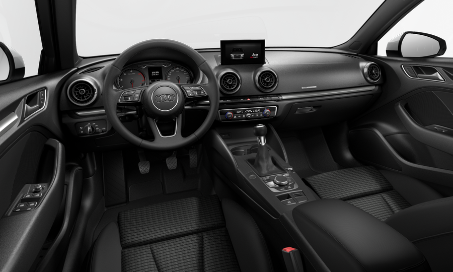 Vista Interior delantera de Audi A3 Sportback 30 TDI S line 85 kW (116 CV)