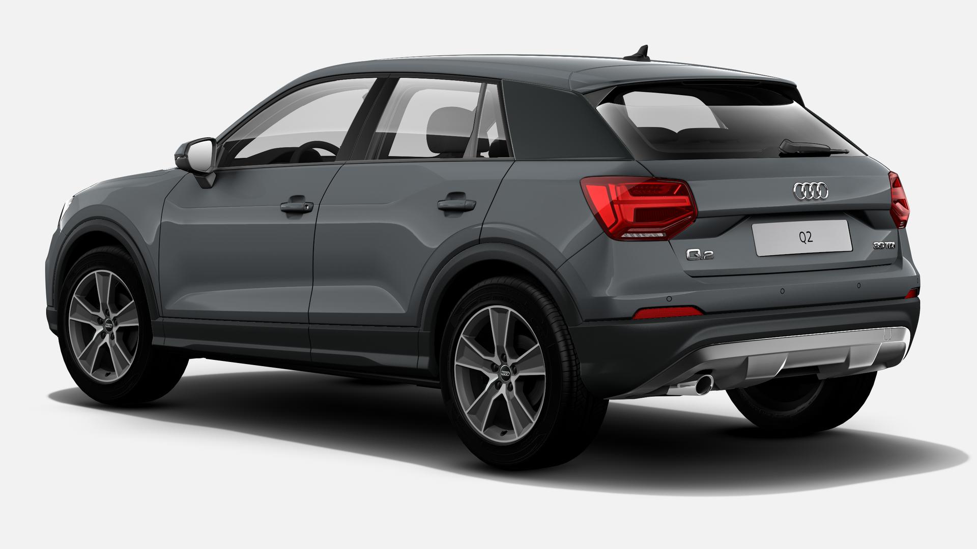 Vista Tres cuartos trasera izquierda de Audi Q2 1.6 TDI Design edition 85 kW (116 CV)