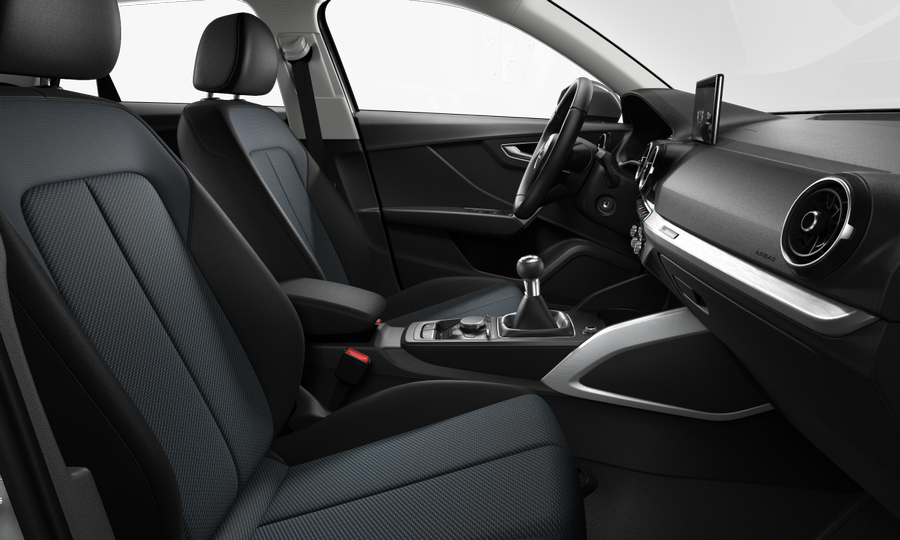Vista Interior derecha de Audi Q2 1.6 TDI Design edition 85 kW (116 CV)