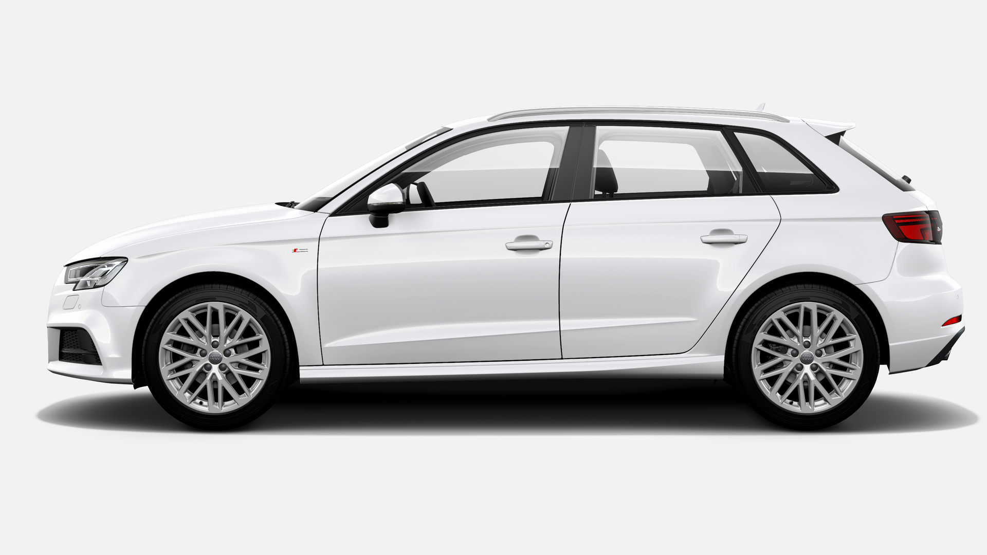 Vista Lateral izquierda de Audi A3 Sportback 30 TDI S line 85 kW (116 CV)