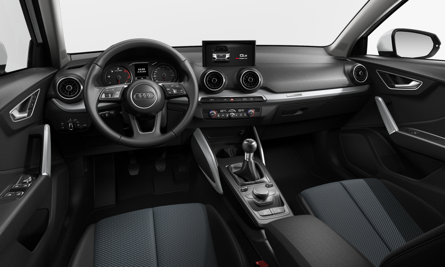 Vista Interior delantera de Audi Q2 1.6 TDI Design edition 85 kW (116 CV)