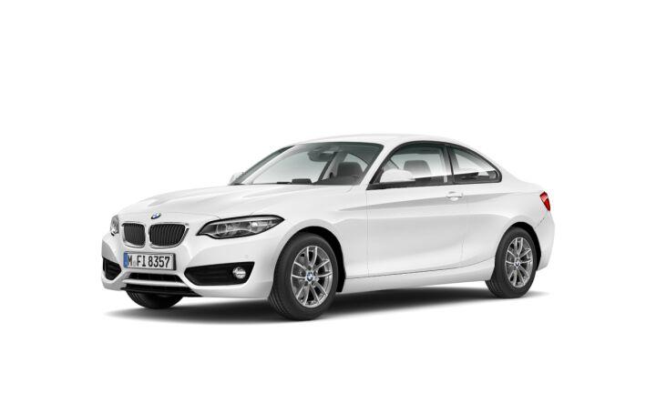 Vista Tres cuartos delantera izquierda del BMW Serie 2 218d Coupe 110 kW (150 CV)