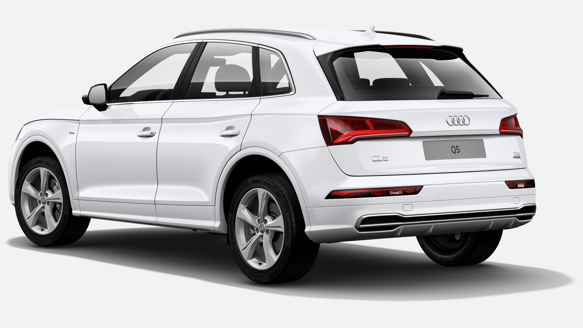 Vista Tres cuartos trasera izquierda de Audi Q5 40 TDI S Line Quattro S Tronic 140 kW (190 CV)