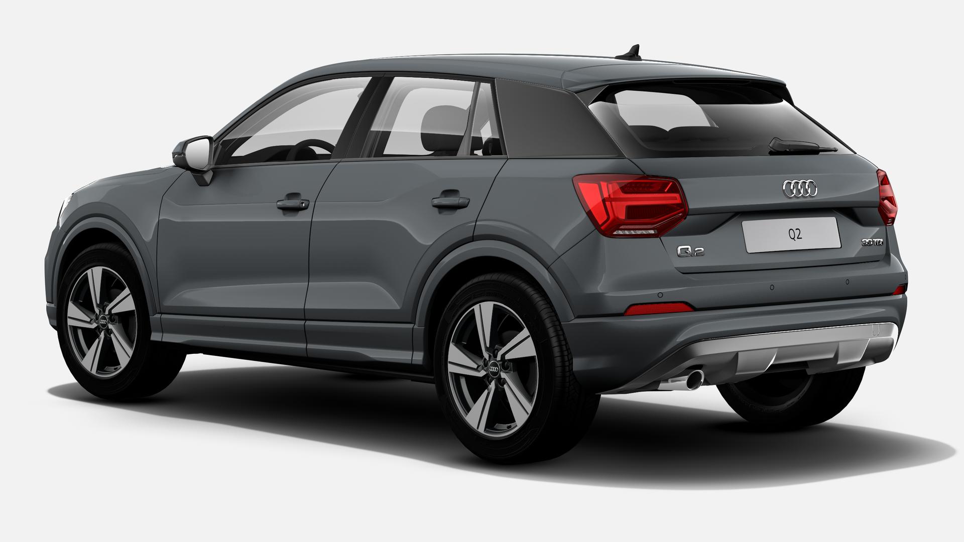 Vista Tres cuartos trasera izquierda de Audi Q2 30 TDI Design 85 kW (116 CV)