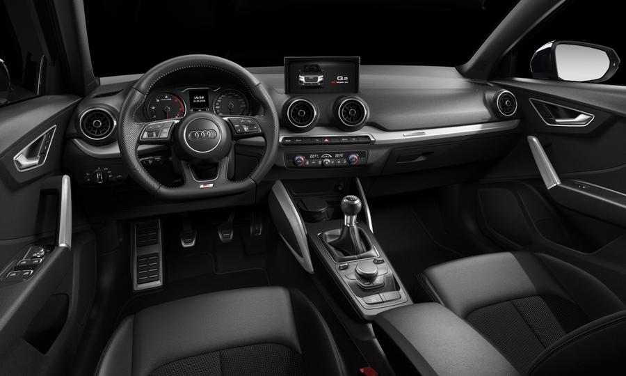 Vista Interior delantera de Audi Q2 30 TDI Design 85 kW (116 CV)