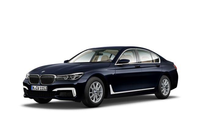 Vista Tres cuartos delantera izquierda del BMW Serie 7 740d