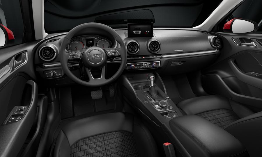 Vista Interior delantera de Audi A3 Sportback 1.6 TDI Design Edition S-tronic 85 kW (116 CV)