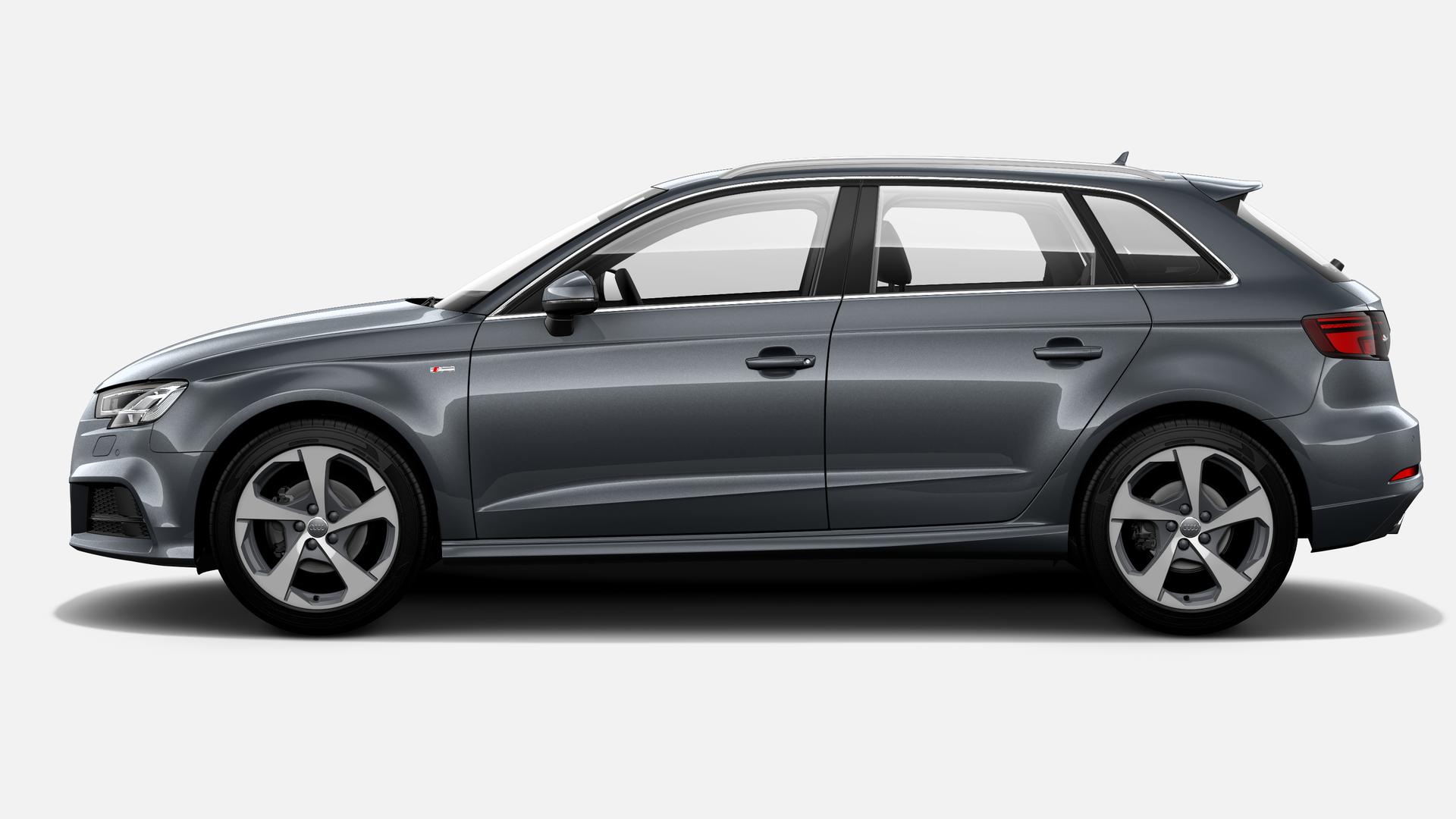 Vista Lateral izquierda de Audi A3 Sportback 35 TFSI CoD S line 110 kW (150 CV)