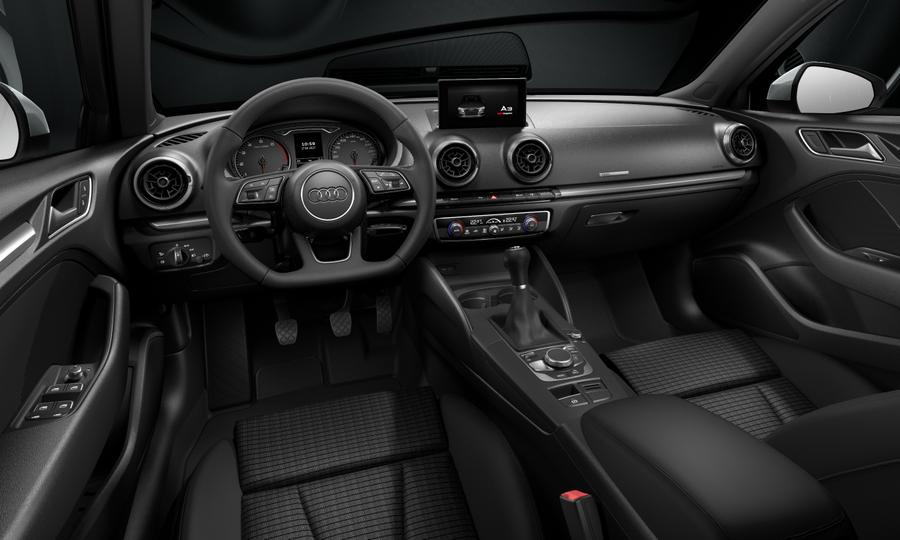 Vista Interior delantera de Audi A3 Sportback 35 TFSI CoD S line 110 kW (150 CV)