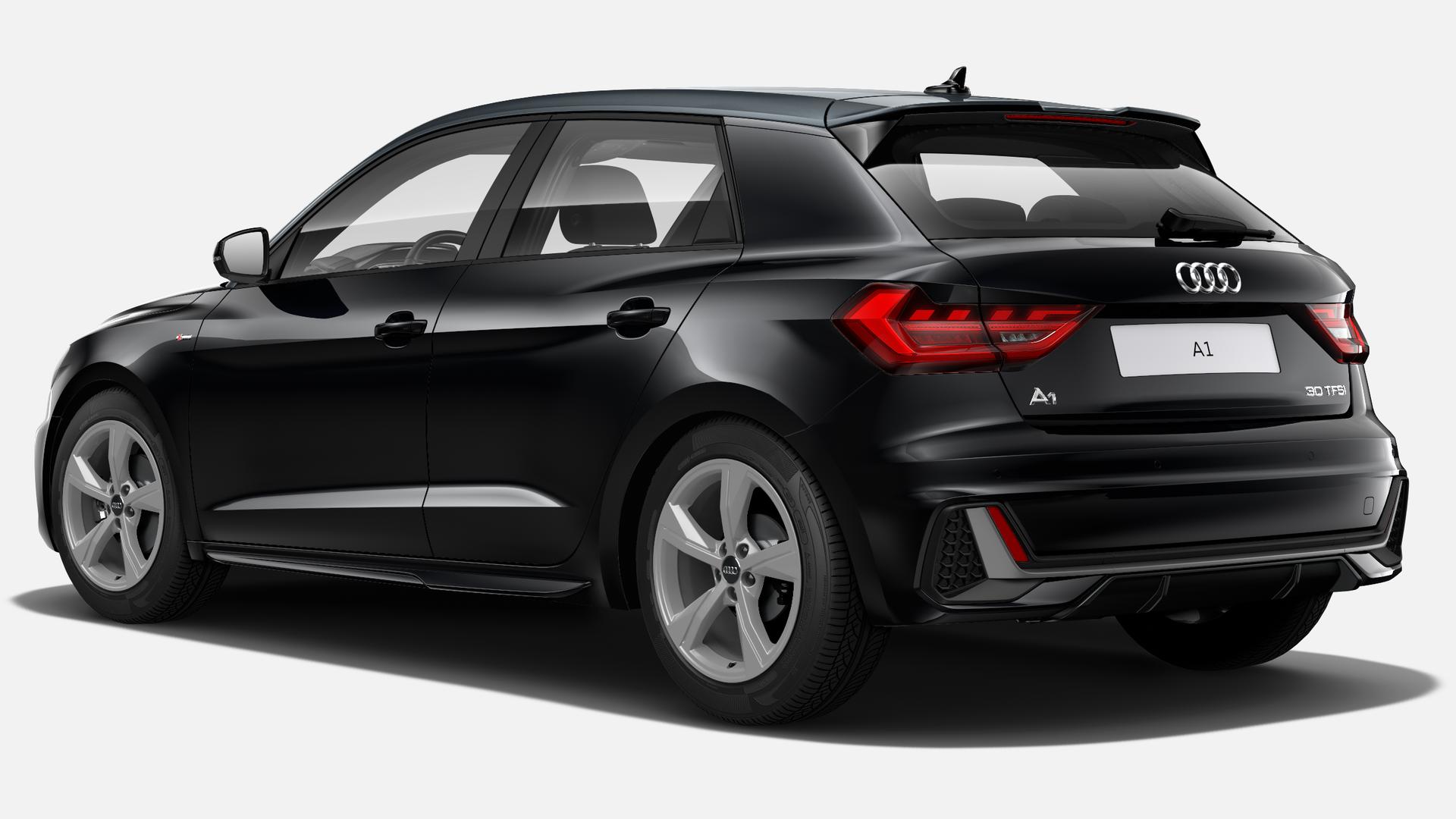Vista Tres cuartos trasera izquierda de Audi A1 Sportback 30 TFSI S Line  85 kW (116 CV)