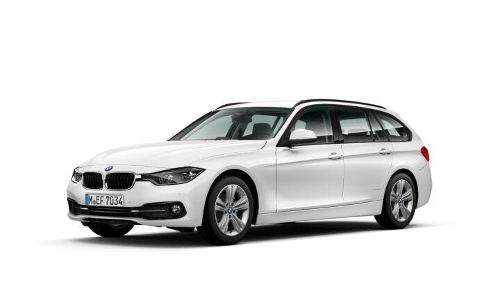 Vista Tres cuartos delantera izquierda del BMW Serie 3 316d Touring