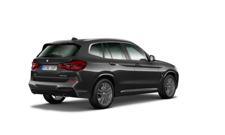 Vista Tres cuartos trasera izquierda del BMW X3 xDrive20d