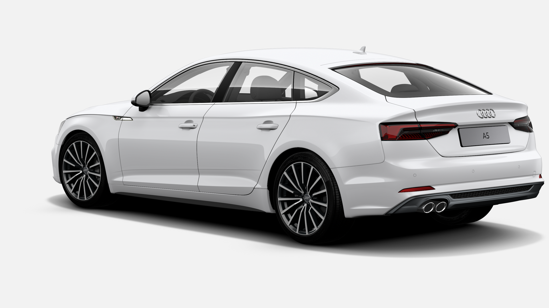 Vista Tres cuartos trasera izquierda de Audi A5 Sportback 40 TDI Sport S tronic 140 kW (190 CV)