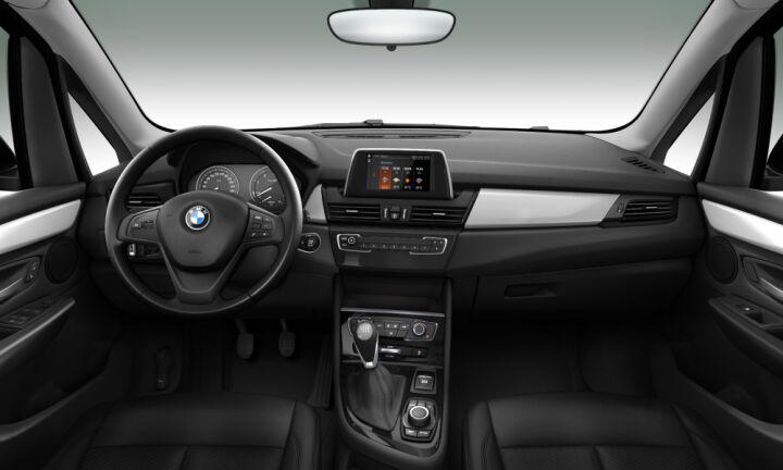 Vista Interior delantera del BMW Serie 2 218d Active Tourer 110 kW (150 CV)