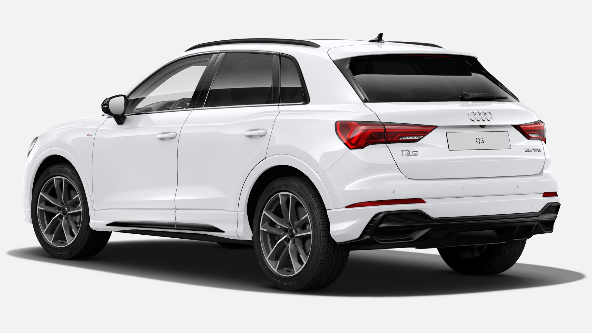Vista Tres cuartos trasera izquierda de Audi Q3 35 TFSI Black line S Tronic 110 kW (150 CV)