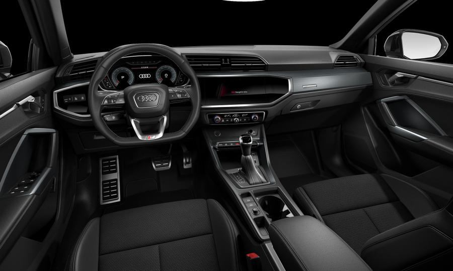 Vista Interior delantera de Audi Q3 35 TFSI Black line S Tronic 110 kW (150 CV)