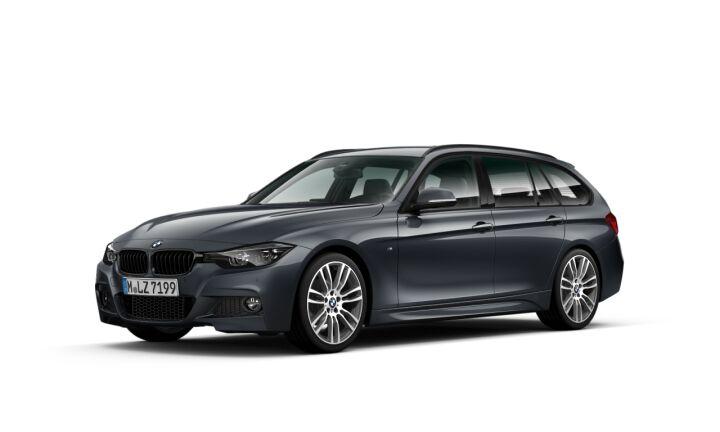 Vista Tres cuartos delantera izquierda del BMW Serie 3 320d Touring