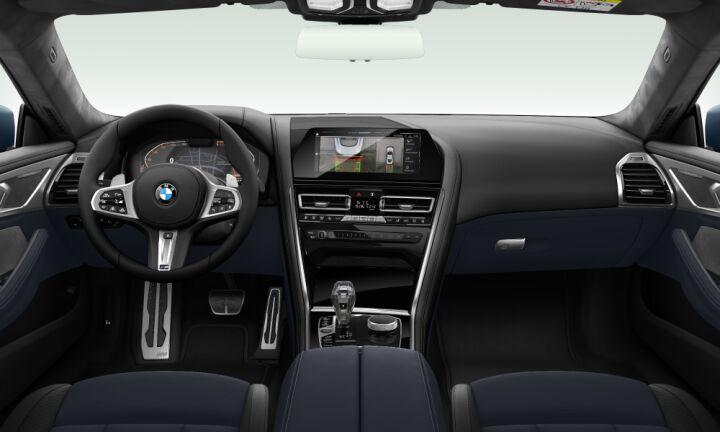 Vista Interior delantera del BMW Serie 8 840d