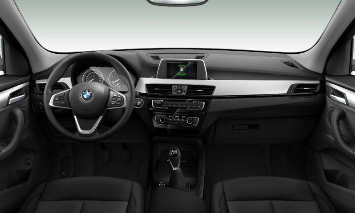 Vista Interior delantera de BMW X1 sDrive18d 110 kW (150 CV)