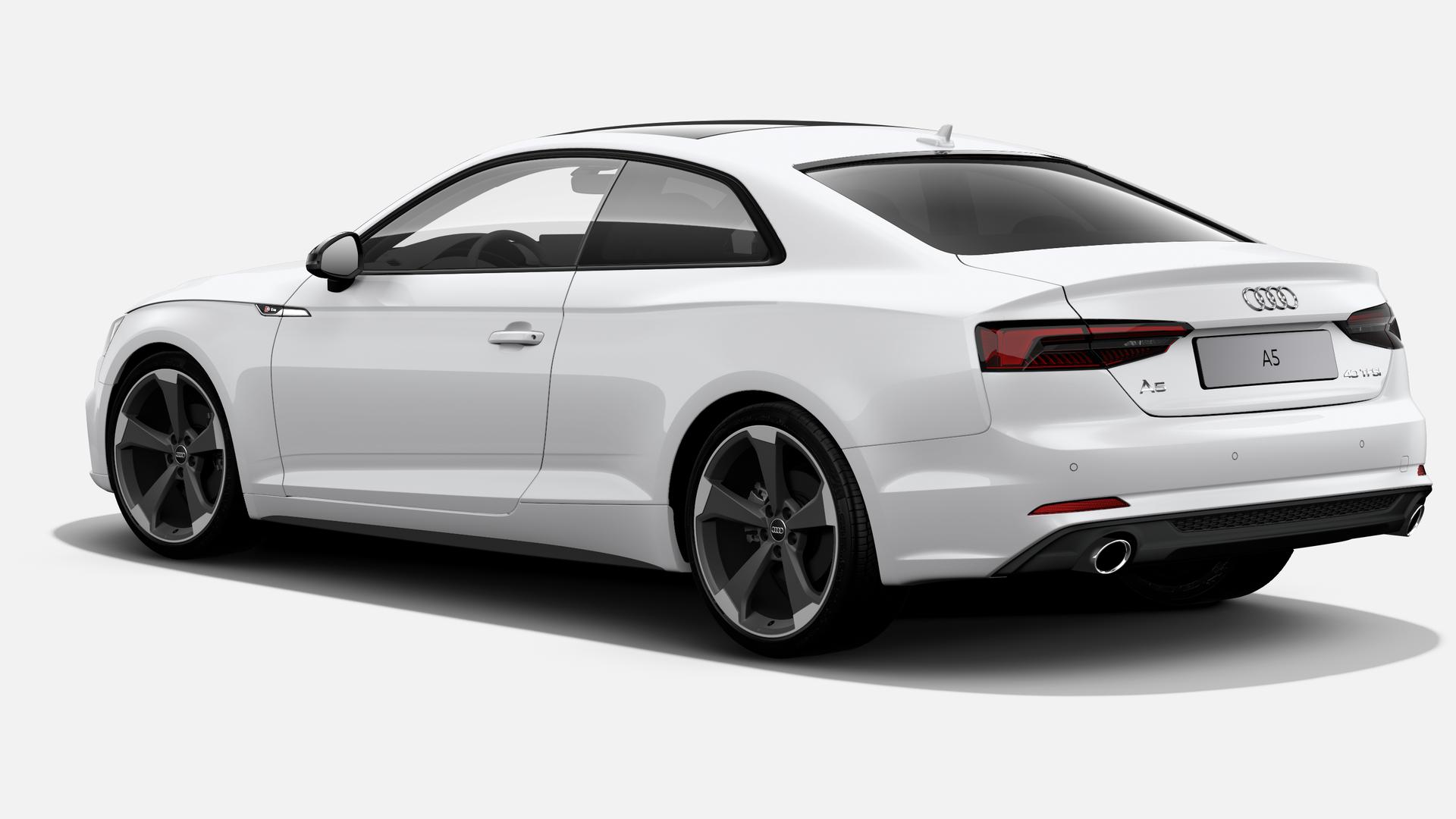 Vista Tres cuartos trasera izquierda de Audi A5 Coupe 40 TFSI S line S tronic 140 kW (190 CV)