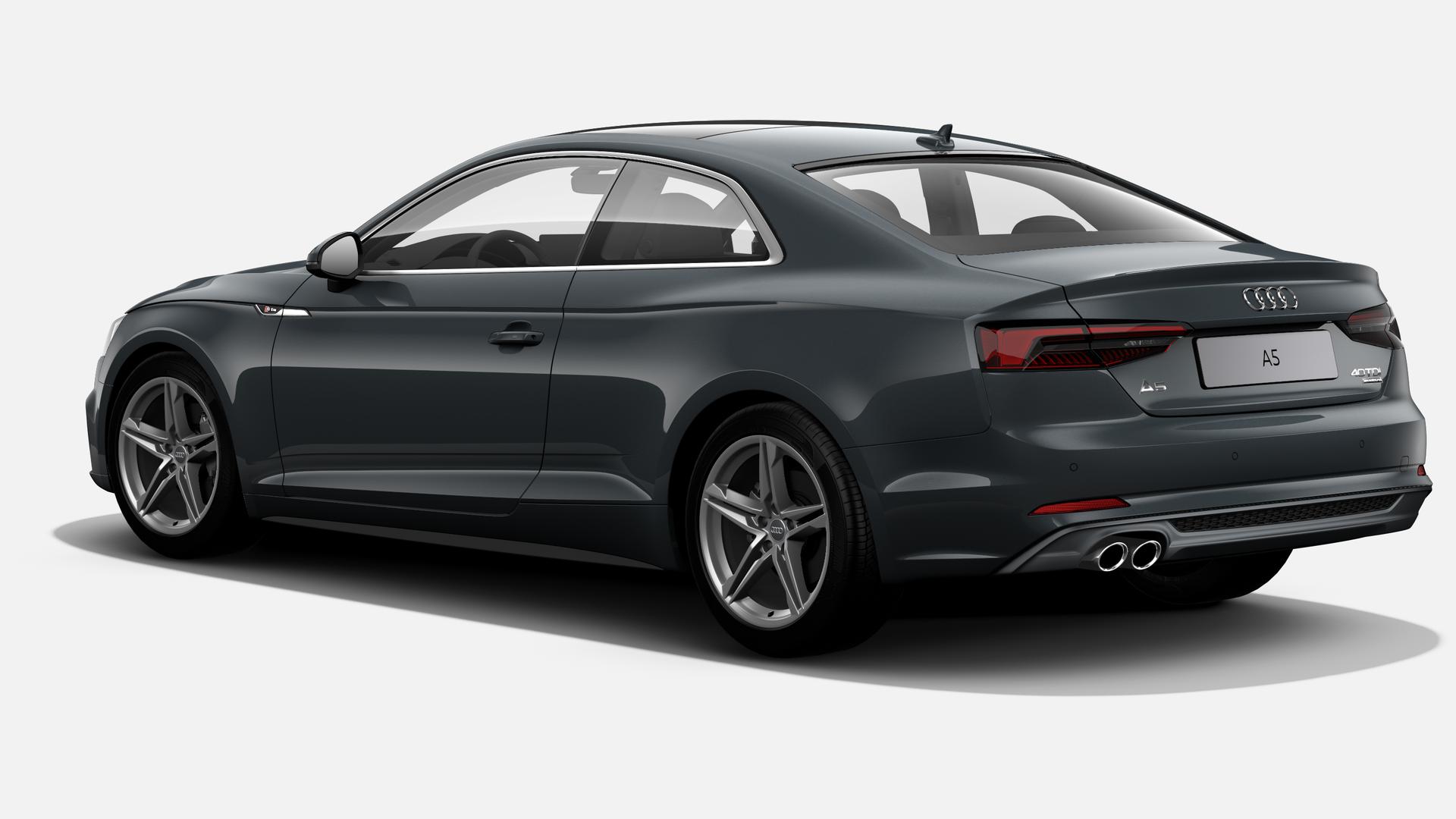 Vista Tres cuartos trasera izquierda de Audi A5 Coupe 40 TDI S line quattro S tronic 140 kW (190 CV)