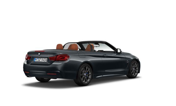 Vista Tres cuartos trasera izquierda del BMW Serie 4 420i Cabrio