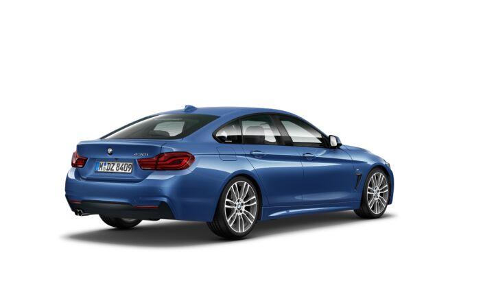 Vista Tres cuartos trasera izquierda del BMW Serie 4 430i Gran Coupe
