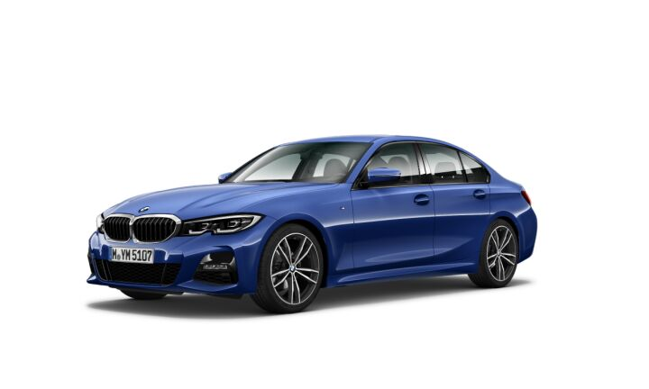 Vista Tres cuartos delantera izquierda del BMW Serie 3 320d