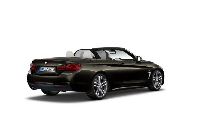 Vista Tres cuartos trasera izquierda del BMW Serie 4 430i Cabrio