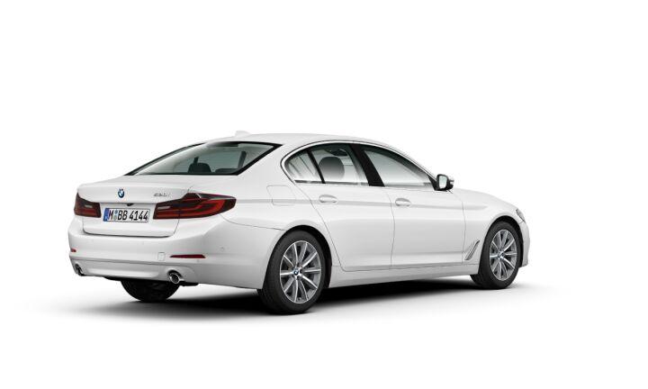 Vista Tres cuartos trasera izquierda del BMW Serie 5 520i
