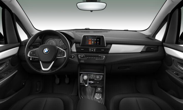 Vista Interior delantera del BMW Serie 2 216d Gran Tourer 85 kW (116 CV)